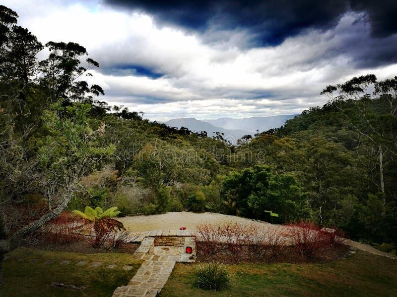 Ιστορικοί σπίτι και κήποι Everglades, @ Leura, μπλε βουνά, Αυστραλία στοκ φωτογραφία με δικαίωμα ελεύθερης χρήσης