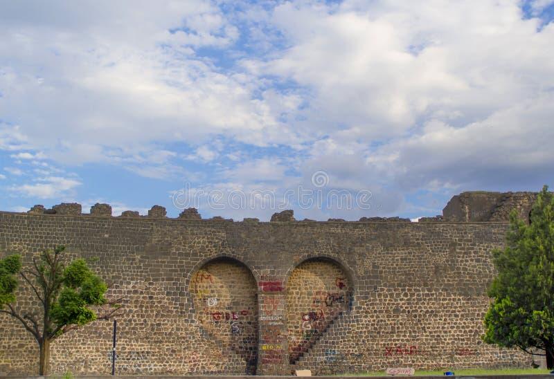 Ιστορικοί τοίχοι πόλεων της Τουρκίας Diyarbakir στοκ φωτογραφίες
