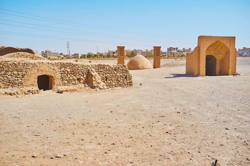 Ιστορικός ενταφιασμός Zoroastrian σύνθετος σε Yazd, Ιράν στοκ φωτογραφία με δικαίωμα ελεύθερης χρήσης
