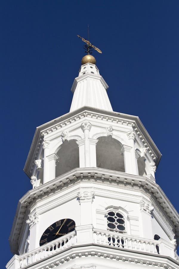 ιστορικός πύργος εκκλη&sig στοκ εικόνες με δικαίωμα ελεύθερης χρήσης