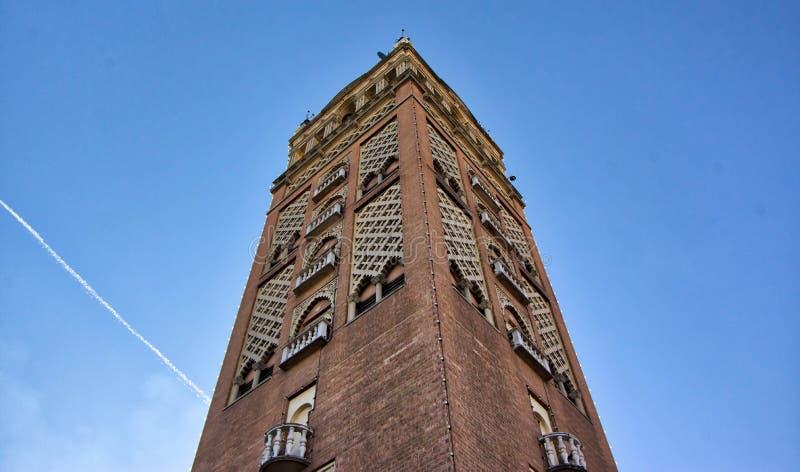 Ιστορικός πύργος τούβλου πόλεων του Μισσούρι Κάνσας στοκ φωτογραφία με δικαίωμα ελεύθερης χρήσης