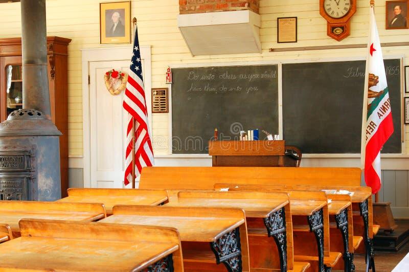 Ιστορικός σχολικό σπίτι δωματίων στοκ φωτογραφία
