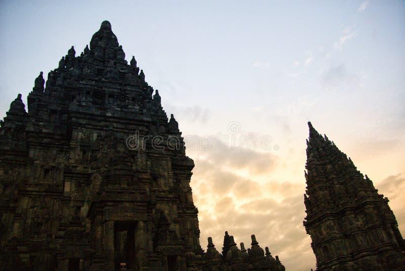Ιστορικός σύνθετος Prambanan σε Yogyakarta, Ινδονησία στοκ φωτογραφίες