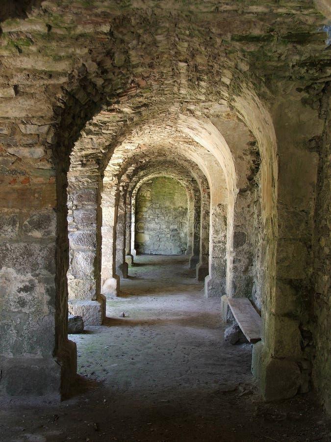 ιστορικός υπόγειος θάλαμος στοκ φωτογραφία