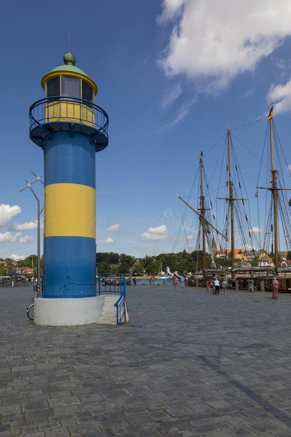 Ιστορικός φάρος στο λιμάνι Eckernförde στοκ φωτογραφίες με δικαίωμα ελεύθερης χρήσης