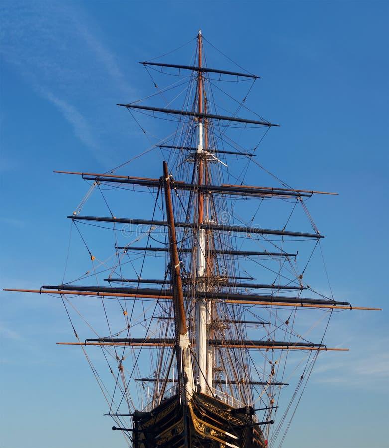Ιστορικό βρετανικό σκάφος που σταθμεύουν στην αποβάθρα στο Λονδίνο στοκ εικόνες