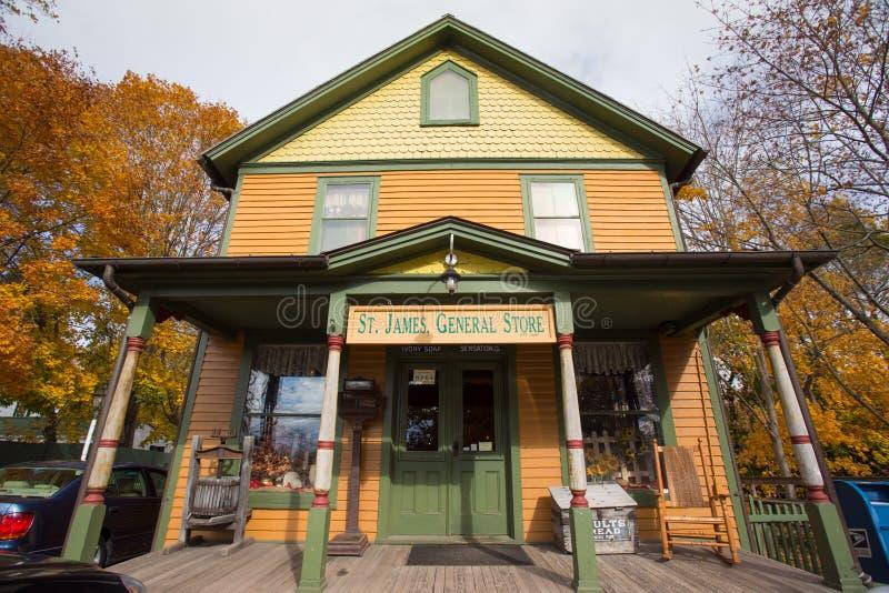 Ιστορικό γενικό κατάστημα στοκ φωτογραφία