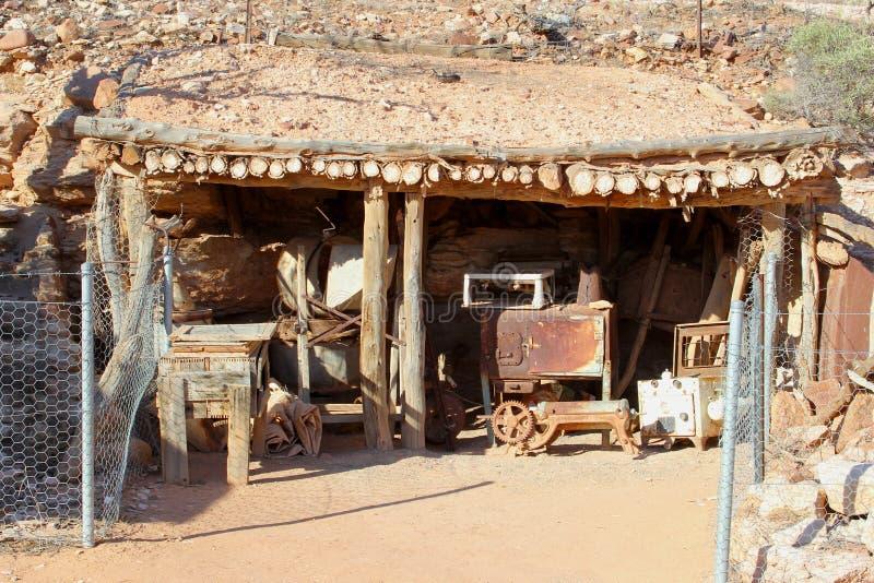Ιστορικό εξοχικό σπίτι των opal ανθρακωρύχων σε Andamooka, Νότια Αυστραλία στοκ εικόνες με δικαίωμα ελεύθερης χρήσης