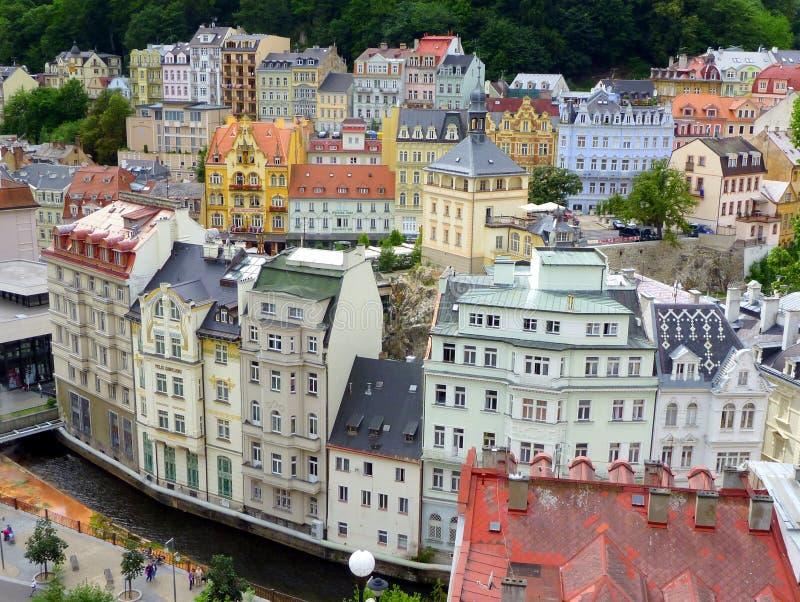 Ιστορικό Κάρλοβυ Βάρυ, Δημοκρατία της Τσεχίας στοκ εικόνα με δικαίωμα ελεύθερης χρήσης