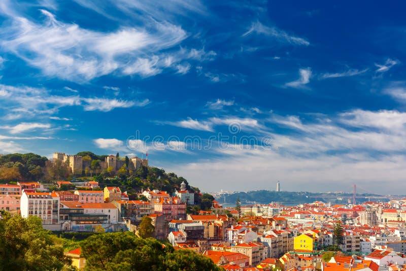 Ιστορικό κέντρο της Λισσαβώνας την ηλιόλουστη ημέρα, Πορτογαλία στοκ εικόνες