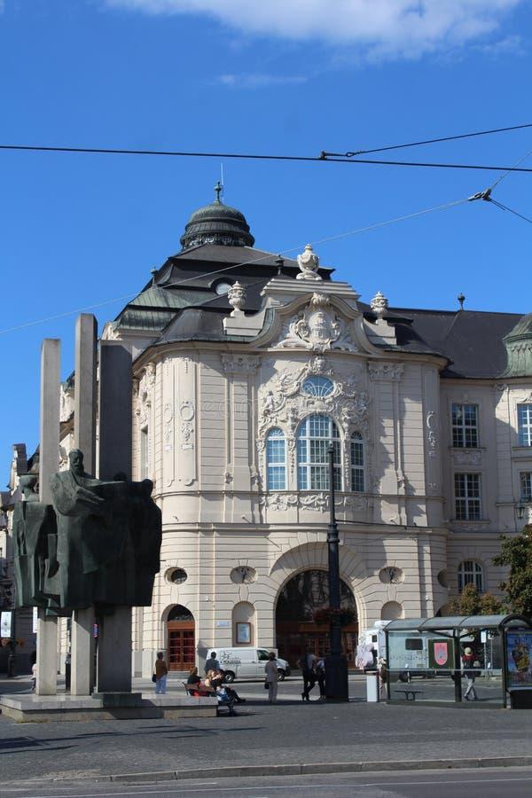 Ιστορικό κέντρο της Μπρατισλάβα, πρωτεύουσα της Σλοβακίας, κτήριο αποχώρησης στοκ εικόνα με δικαίωμα ελεύθερης χρήσης