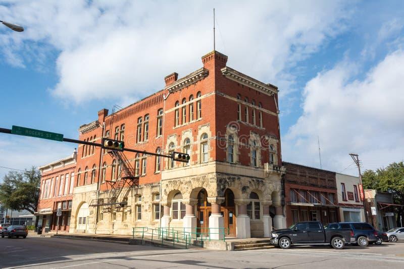 Ιστορικό κτήριο σε Waxahachie, TX στοκ εικόνες