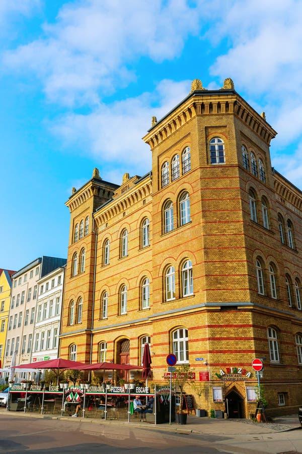 Ιστορικό κτήριο στην παλαιά πόλη Stralsund, Γερμανία στοκ φωτογραφίες