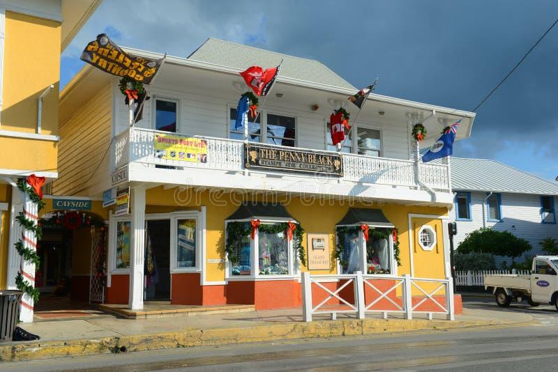 Ιστορικό κτήριο στην πόλη του George, νησιά Κέιμαν στοκ φωτογραφίες