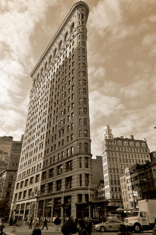 Ιστορικό κτήριο Flatiron στοκ φωτογραφία