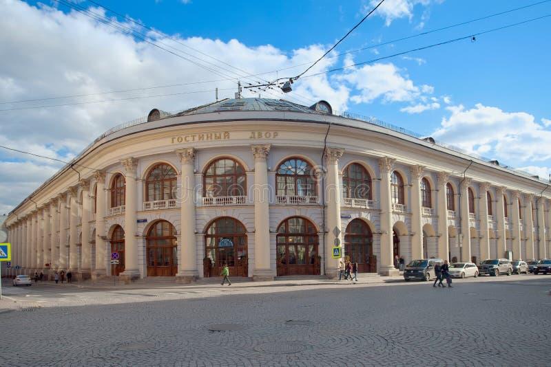 Ιστορικό κτήριο - Gostiny Dvor στην οδό Ilyinka Μόσχα στοκ εικόνα με δικαίωμα ελεύθερης χρήσης
