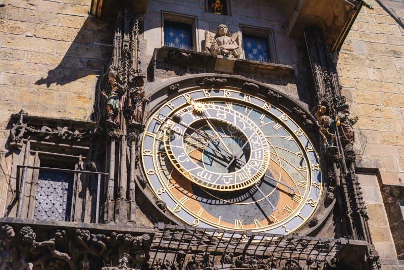 Ιστορικό μεσαιωνικό αστρονομικό ρολόι στην Πράγα στο παλαιό Δημαρχείο, Δημοκρατία της Τσεχίας στοκ φωτογραφία με δικαίωμα ελεύθερης χρήσης