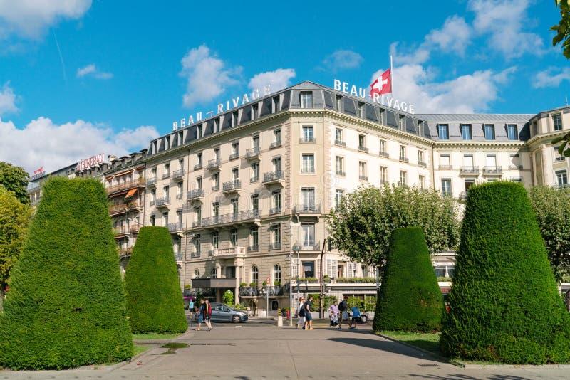 Ιστορικό ξενοδοχείο Beau Rivage στη Γενεύη στοκ εικόνες με δικαίωμα ελεύθερης χρήσης