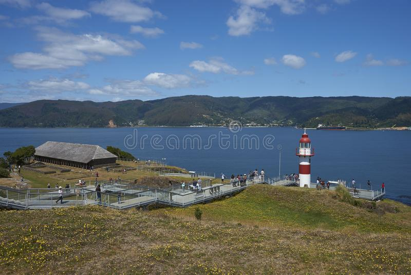 Ιστορικό οχυρό που προστατεύει Valdivia στη νότια Χιλή στοκ εικόνες