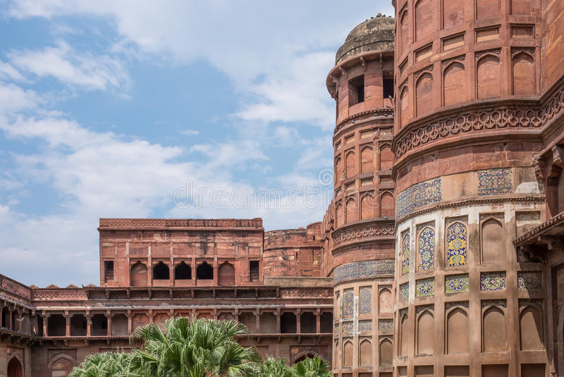 Ιστορικό οχυρό Agra, Agra στοκ φωτογραφίες με δικαίωμα ελεύθερης χρήσης