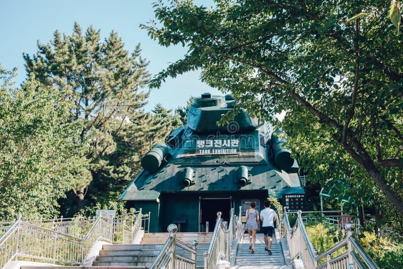 Ιστορικό πάρκο του στρατόπεδου Geoje POW σε Geoje, Κορέα στοκ φωτογραφίες