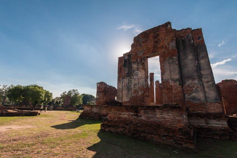 ιστορικό πάρκο ayutthaya στοκ εικόνα με δικαίωμα ελεύθερης χρήσης