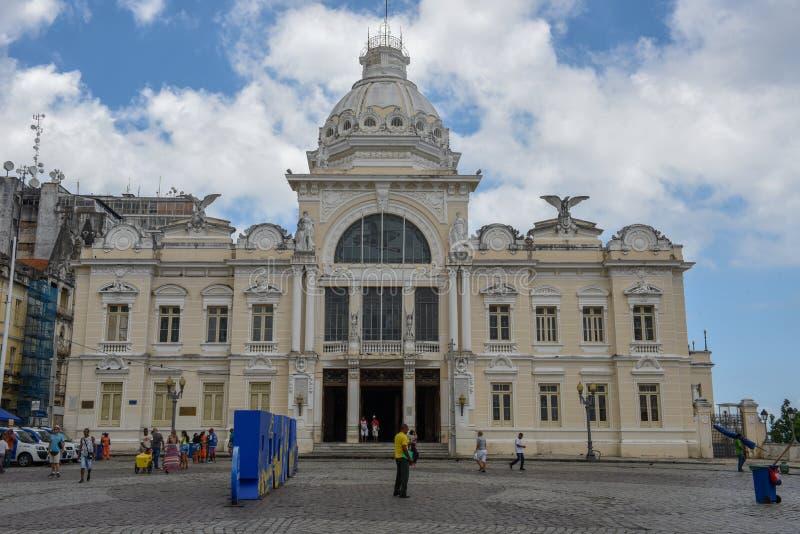 Ιστορικό παλάτι του Ρίο Branco στο Σαλβαδόρ Bahia στη Βραζιλία στοκ φωτογραφία με δικαίωμα ελεύθερης χρήσης