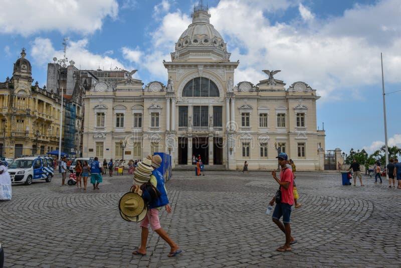 Ιστορικό παλάτι του Ρίο Branco στο Σαλβαδόρ Bahia στη Βραζιλία στοκ εικόνα
