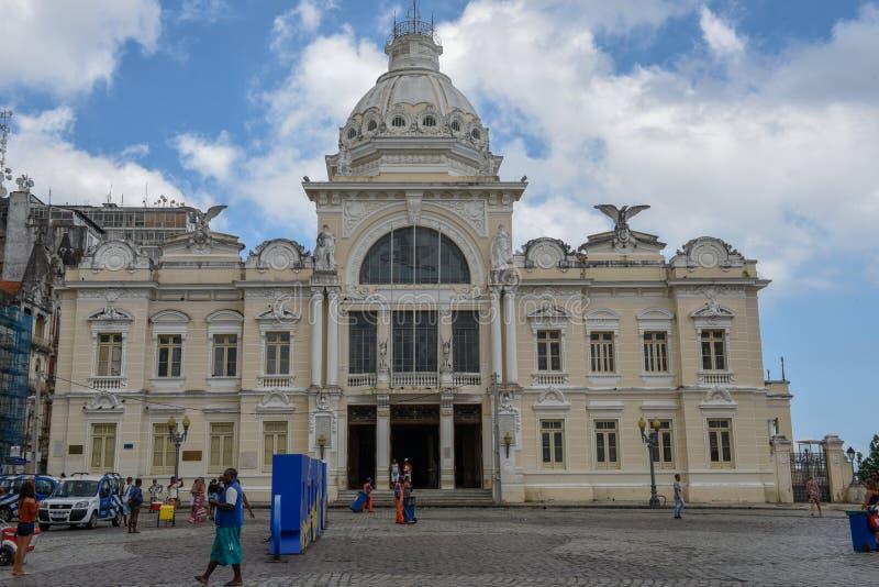 Ιστορικό παλάτι του Ρίο Branco στο Σαλβαδόρ Bahia στη Βραζιλία στοκ φωτογραφία
