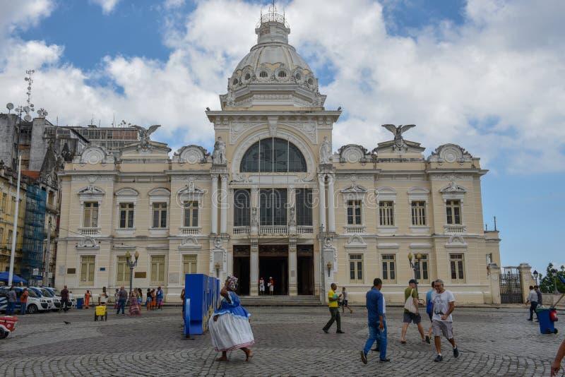 Ιστορικό παλάτι του Ρίο Branco στο Σαλβαδόρ Bahia στη Βραζιλία στοκ φωτογραφίες