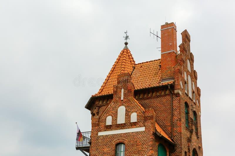 Ιστορικό πειραματικό σπίτι στο λιμένα Stralsund, Γερμανία στοκ φωτογραφία με δικαίωμα ελεύθερης χρήσης