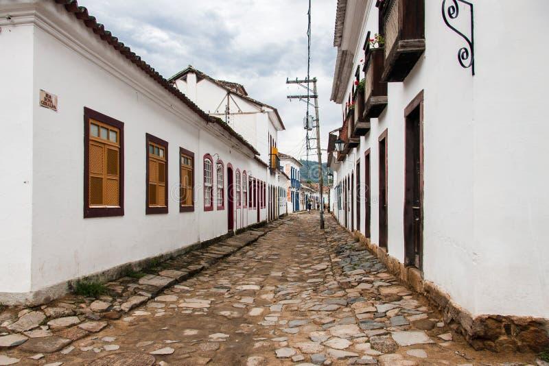 Ιστορικό Ρίο ντε Τζανέιρο οικοδόμησης Paraty στοκ εικόνες με δικαίωμα ελεύθερης χρήσης