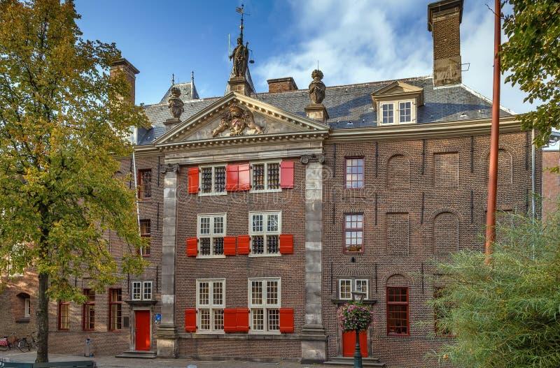 Ιστορικό σπίτι, Λάιντεν, Κάτω Χώρες στοκ εικόνες