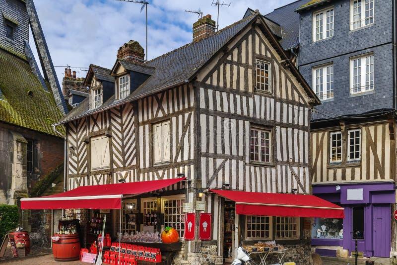 Ιστορικό σπίτι σε Honfleur, Γαλλία στοκ εικόνες με δικαίωμα ελεύθερης χρήσης