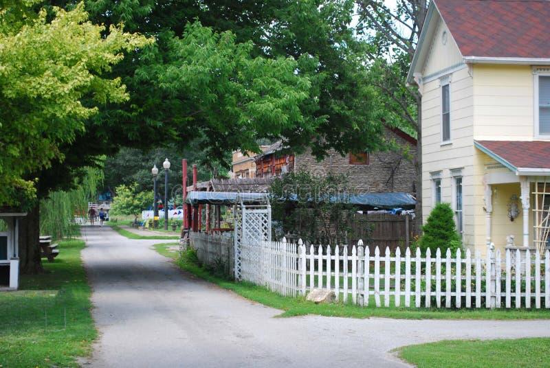 Ιστορικό σπίτι Metamora Ιντιάνα του καναλιού και του σιδηροδρόμου ποταμών Whitewater στοκ φωτογραφία με δικαίωμα ελεύθερης χρήσης
