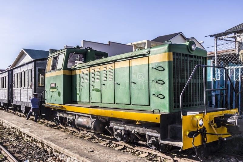 Ιστορικό τραίνο σε Dalat στοκ εικόνα