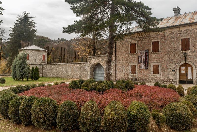 Ιστορικό φρούριο Biljarda στο κέντρο της πόλης Cetinje που χτίζεται στοκ φωτογραφία