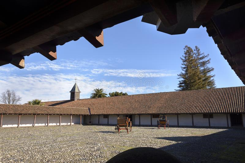 Ιστορικό Hacienda στην κοιλάδα Itata, Χιλή στοκ εικόνες