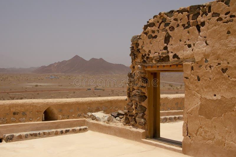 Ιστορικό Jabrin Castle, Ομάν στοκ εικόνα με δικαίωμα ελεύθερης χρήσης