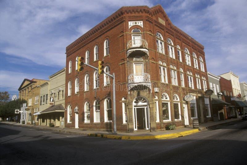 Ιστορικό Lewisburg, WV κατά μήκος της αμερικανικής διαδρομής 60 στοκ εικόνες