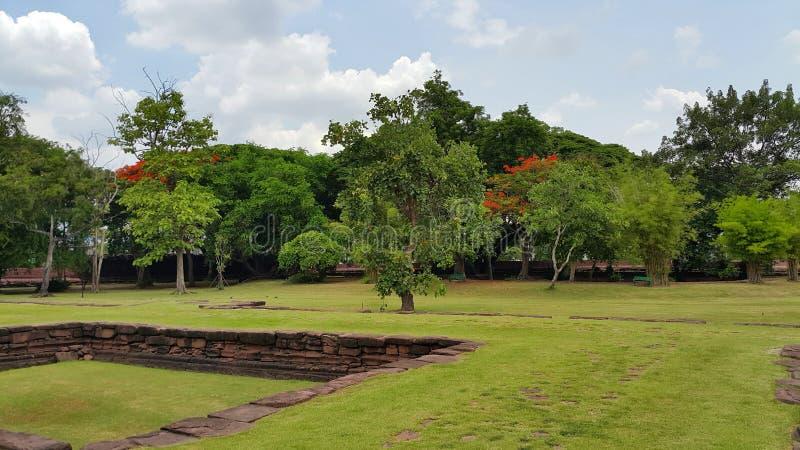 ιστορικό phimai πάρκων στοκ εικόνα