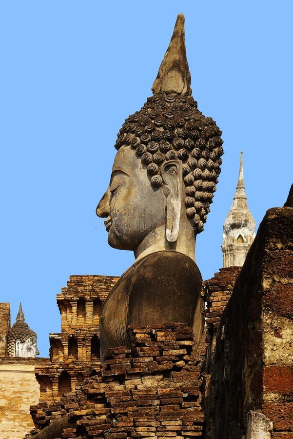 ιστορικό sukhothai αγαλμάτων πάρκων θεοτήτων στοκ φωτογραφίες