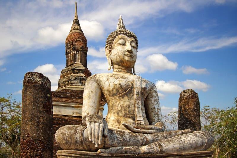 ιστορικό sukhothai Ταϊλάνδη πάρκων &tau στοκ εικόνες