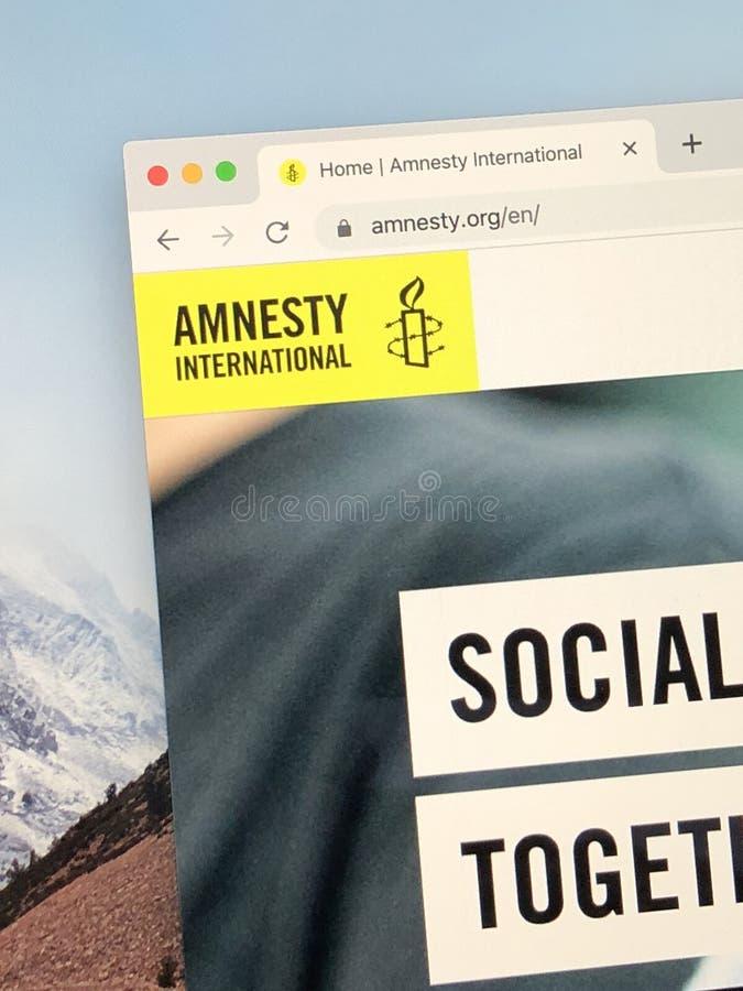Ιστοσελίδα της Διεθνούς Αμνηστίας στοκ φωτογραφίες