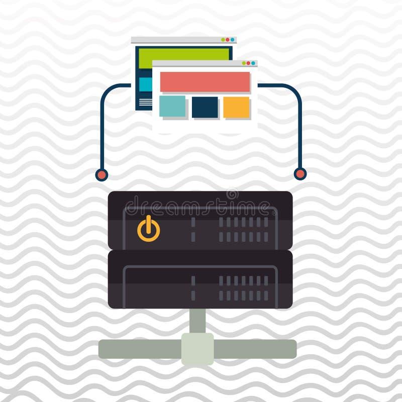 ιστοσελίδας βάσεων δεδομένων διανυσματική απεικόνιση