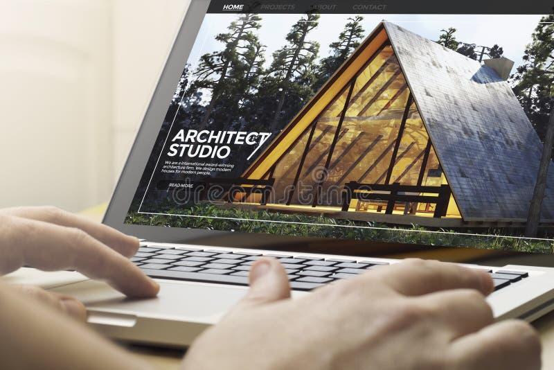 ιστοχώρος αρχιτεκτόνων εγχώριου υπολογισμού στοκ φωτογραφία
