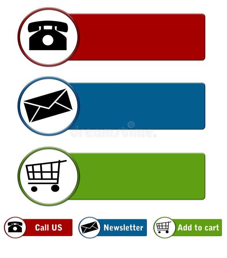 ιστοχώρος κουμπιών ελεύθερη απεικόνιση δικαιώματος