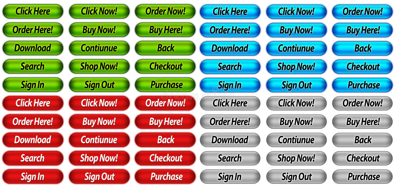 ιστοχώρος κουμπιών διανυσματική απεικόνιση