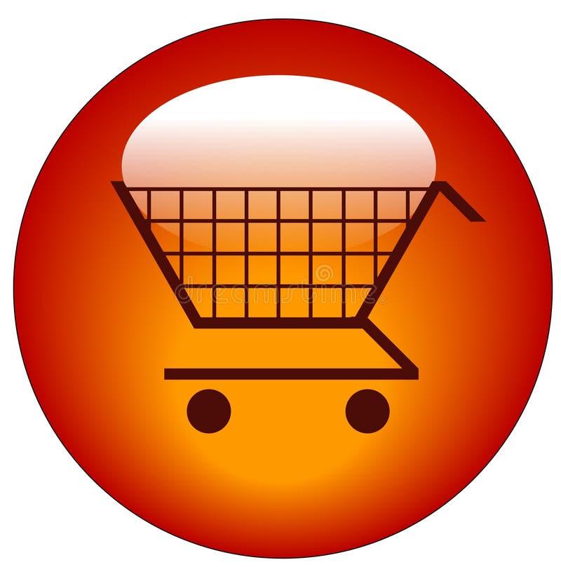 Ιστός αγορών κάρρων κουμπιών απεικόνιση αποθεμάτων