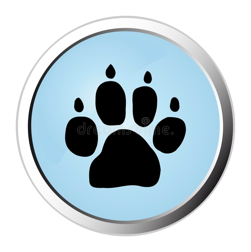 Ιστός διαδρομής σκυλιών &kap απεικόνιση αποθεμάτων